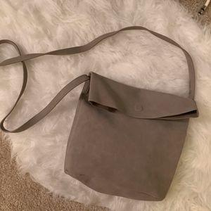 Grey Suede Old Navy Crossbody Bag